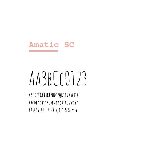 bealegamirpeziosi font selection amatic
