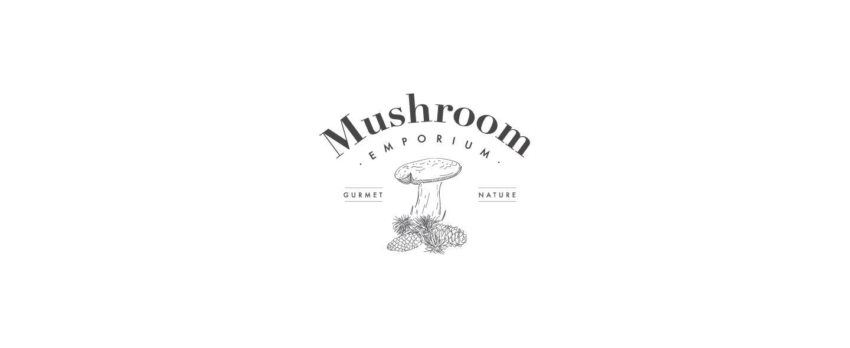 mushroom emporium logo chaubet grafico milano black 1