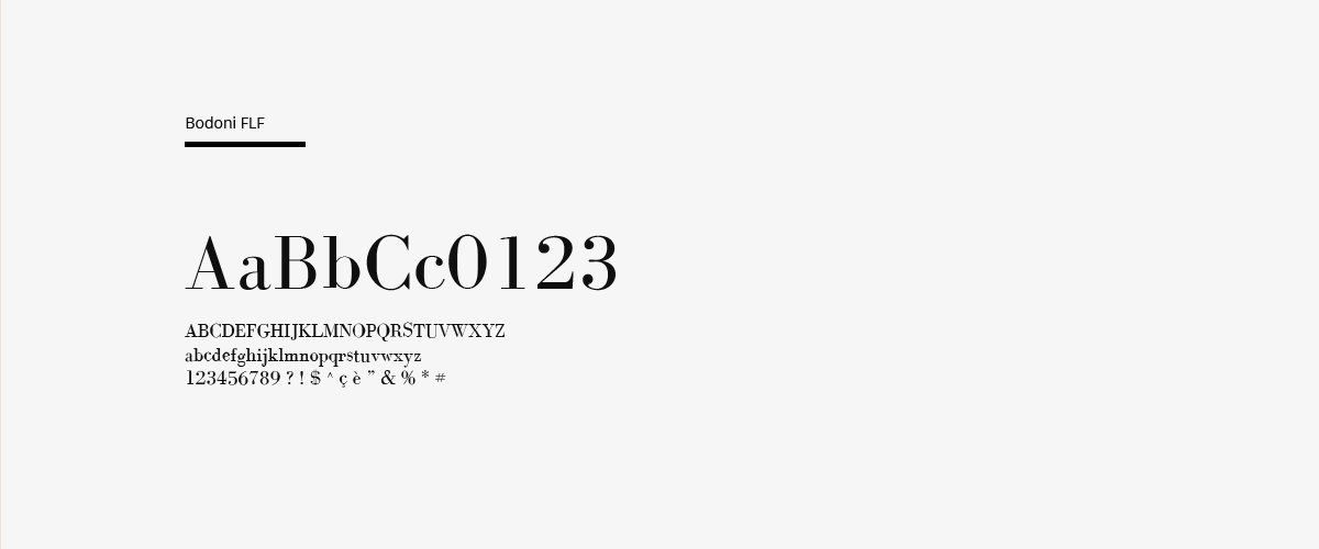 branding logo boil broil chaubet bodoni font