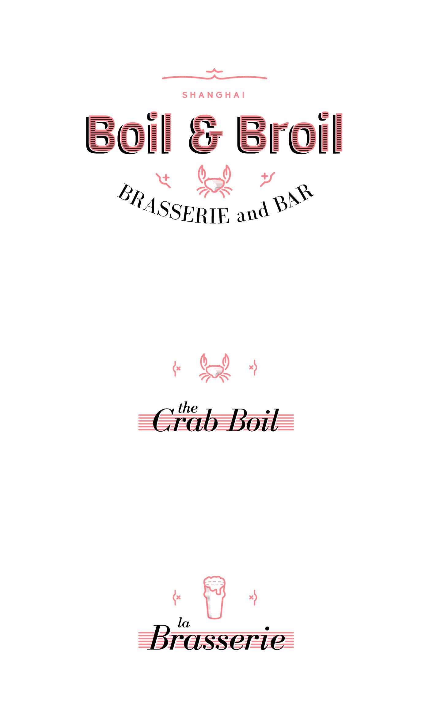branding logo boil broil color icon chaubet