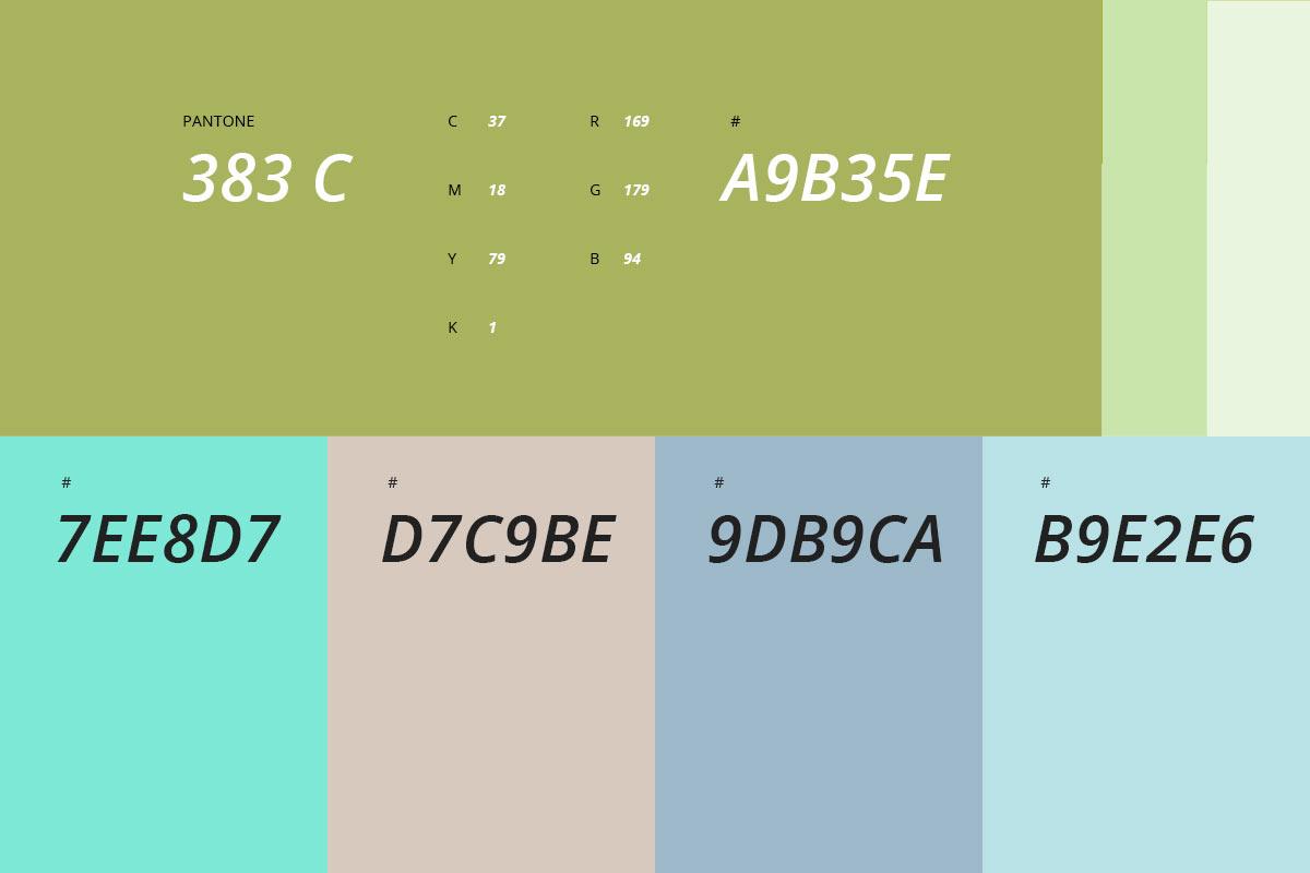 color palette organyc grafico milano chaubet