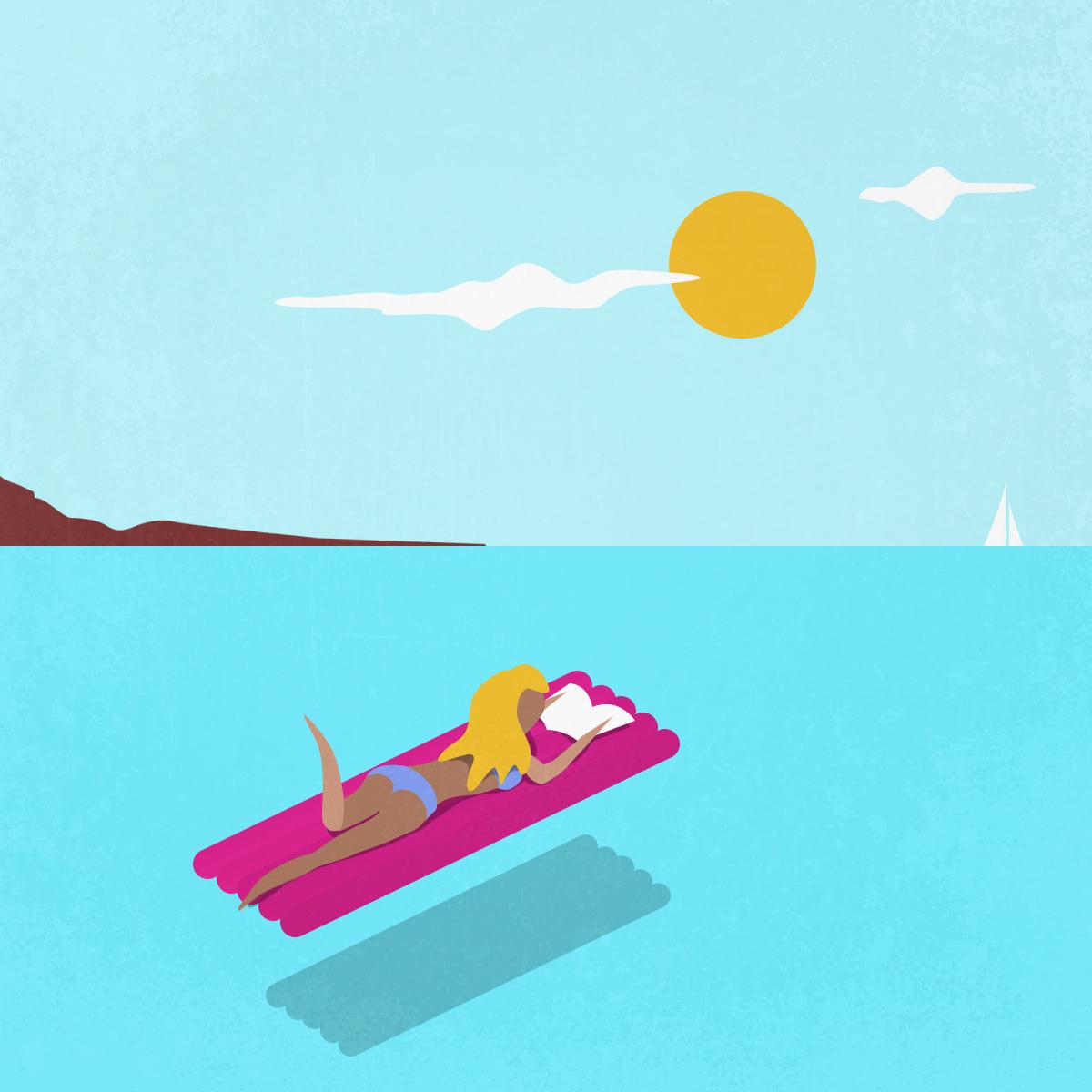 il libraio illustrazioni chaubet nicola estate