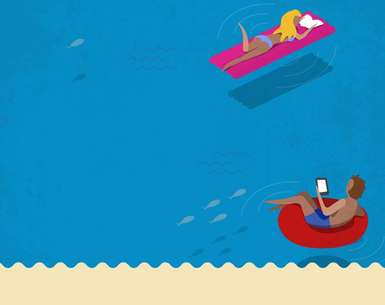 il libraio illustrazioni chaubet nicola mare
