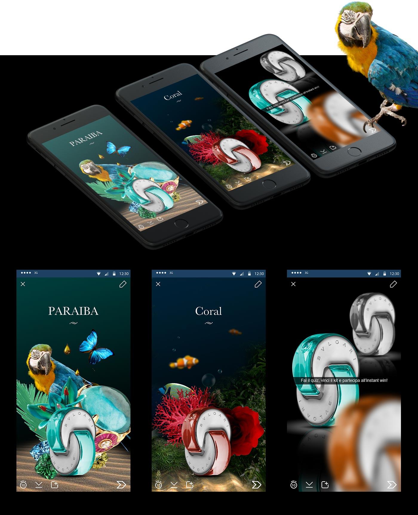 bulgari omnia grafico milano mobile