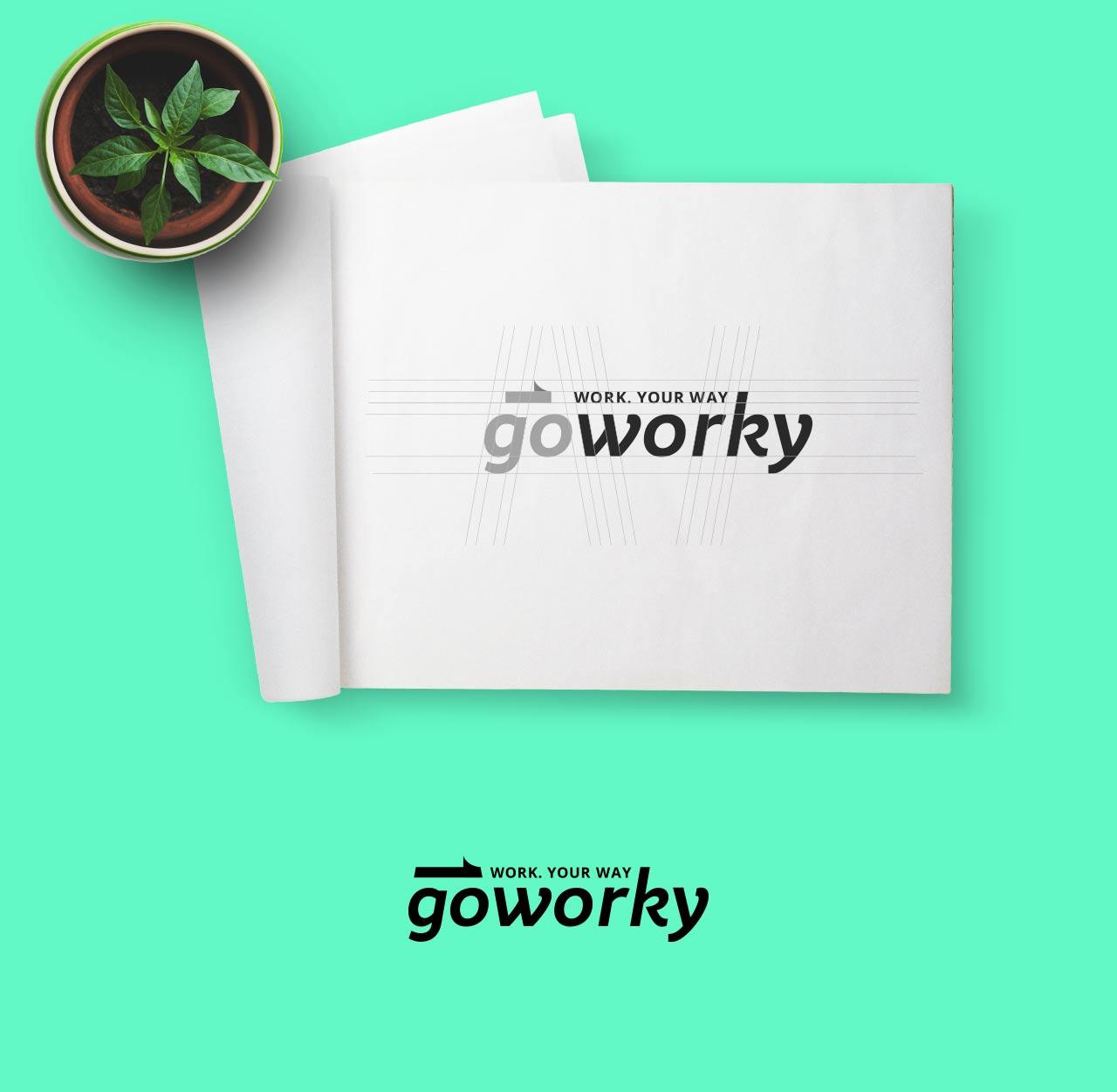 goworky logo brand costruzione grafico milano 2