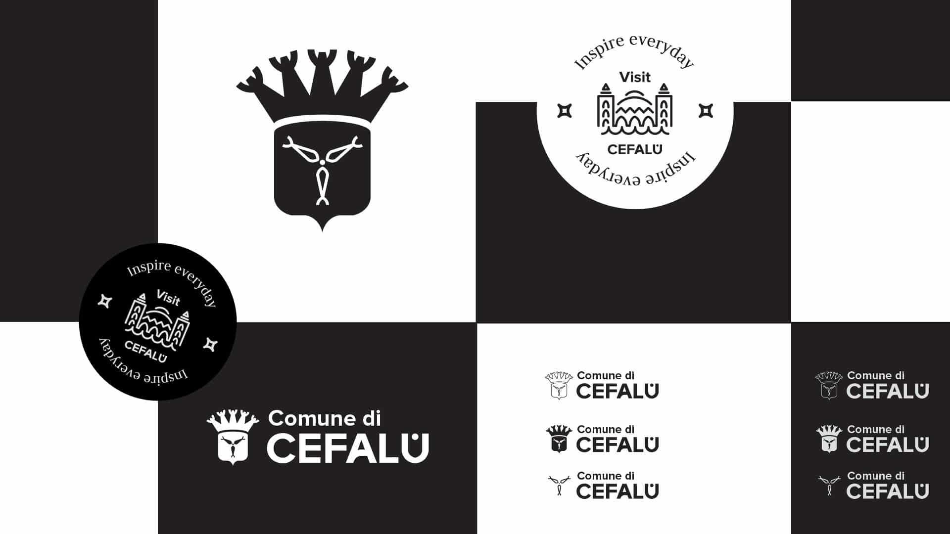 visit cefalu logotipo grafico milano asset