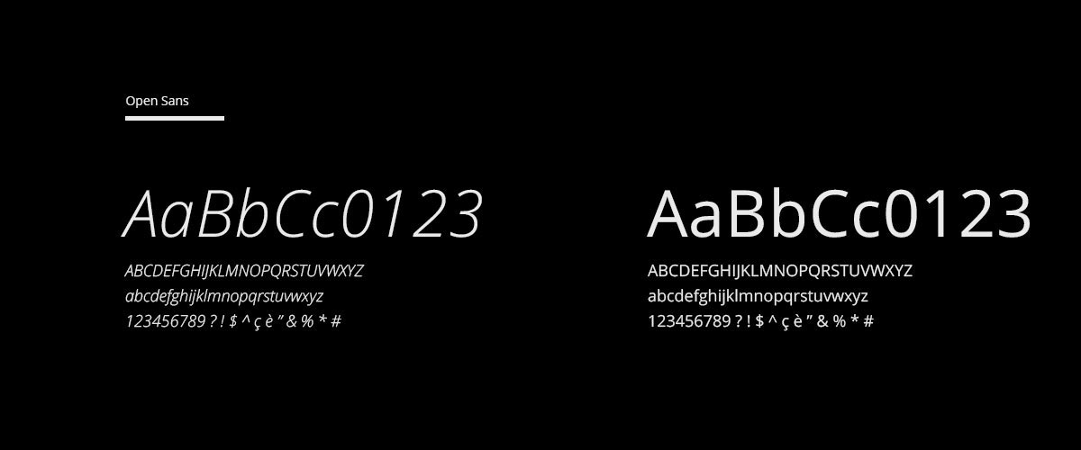 avd design grafico milano font opensans