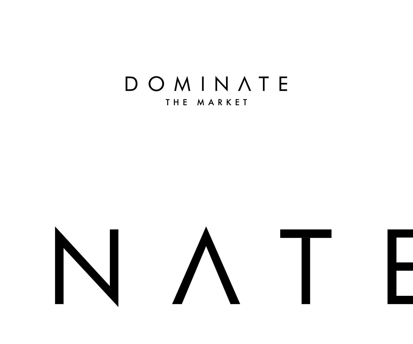 002 logo dominate the matket grafico milano nicola chaubet