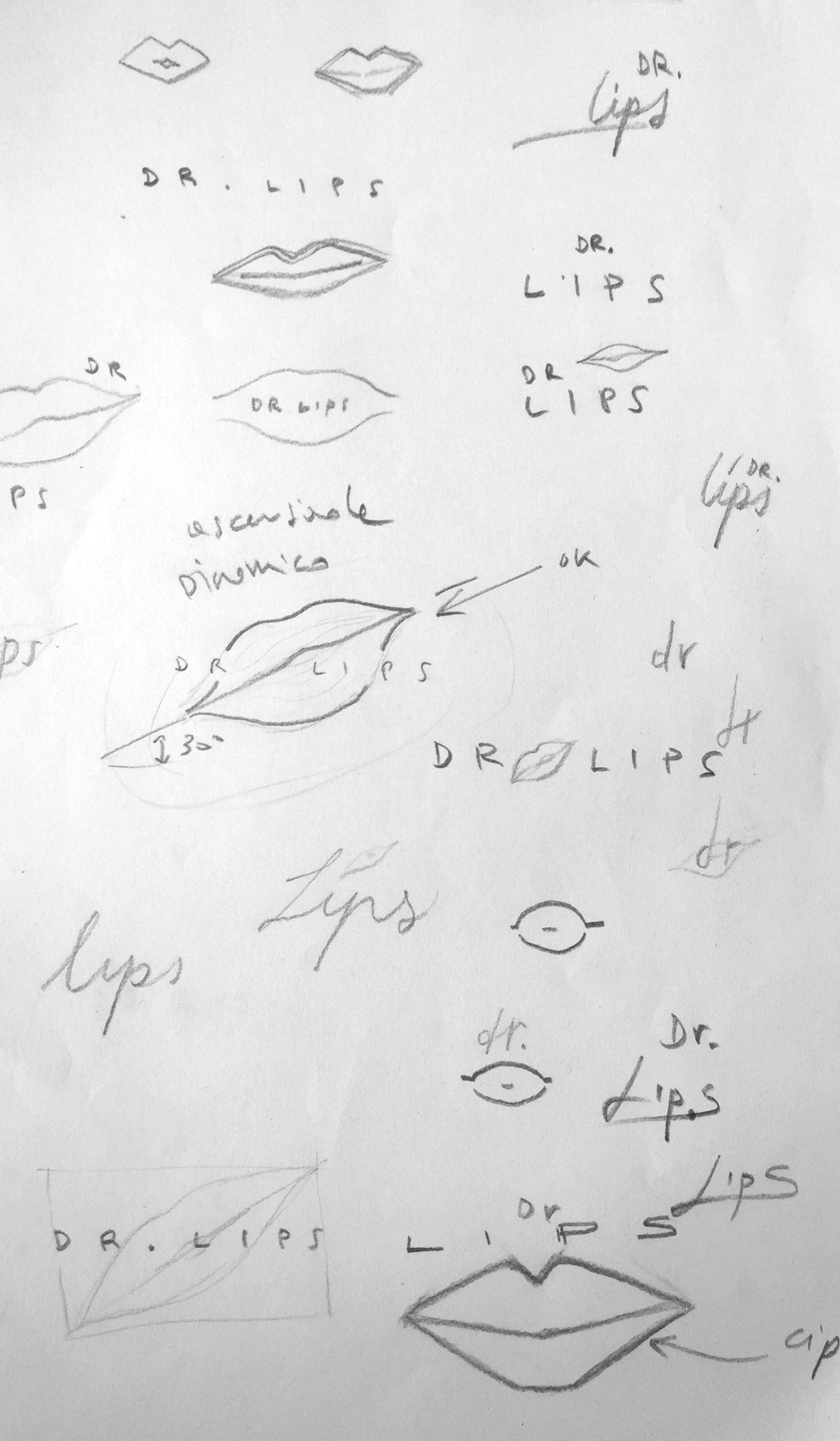 01 logo dr lips grafico milano nicola chaubet
