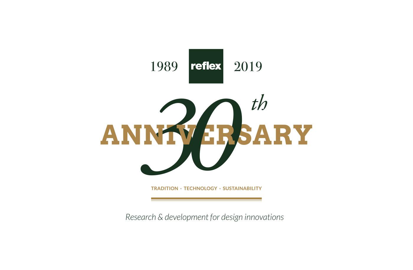 logo anniversary 30 anni reflex grafico milano 02