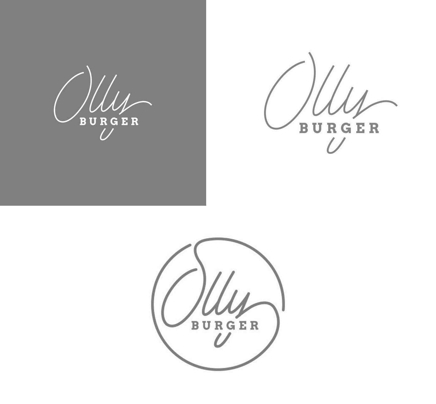 00 OLLY BURGER logotype grafico milano