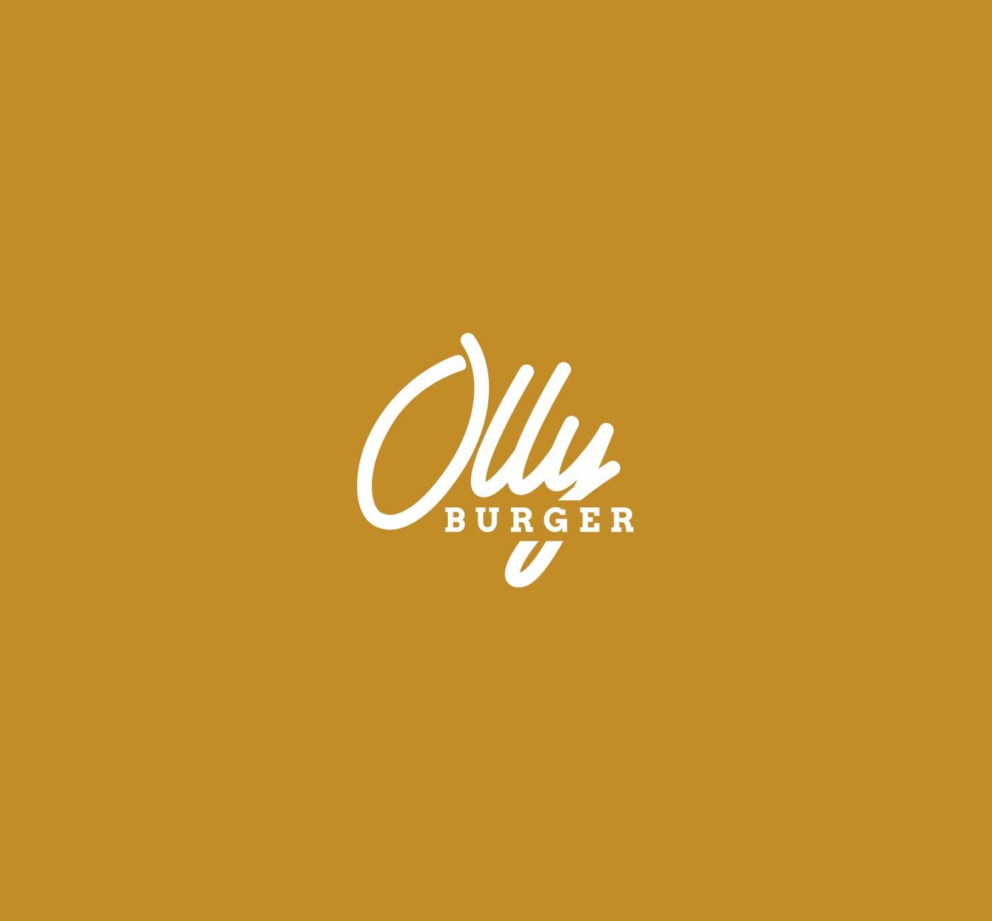 04 OLLY BURGER logotype grafico milano