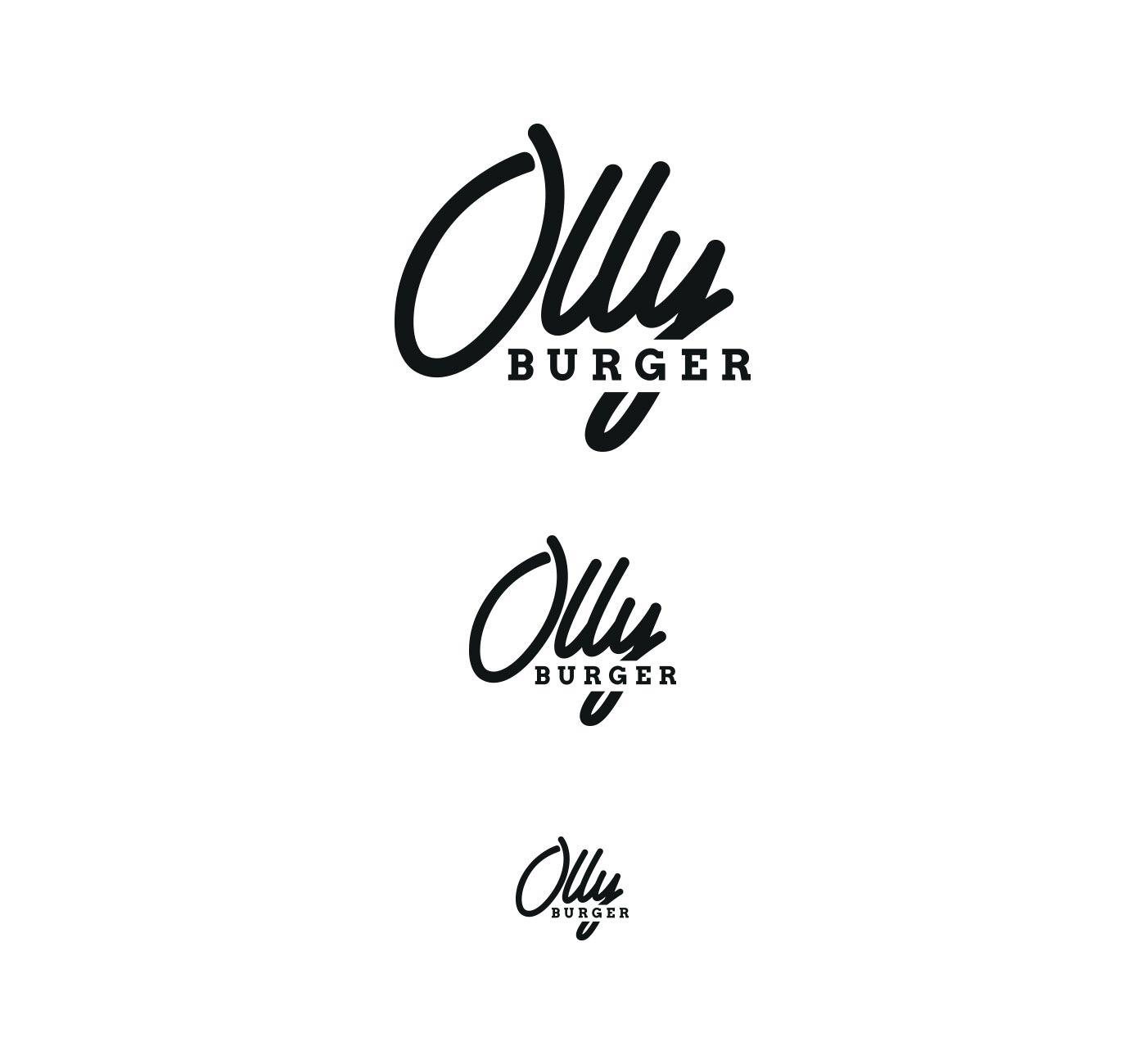 05 OLLY BURGER logotype grafico milano