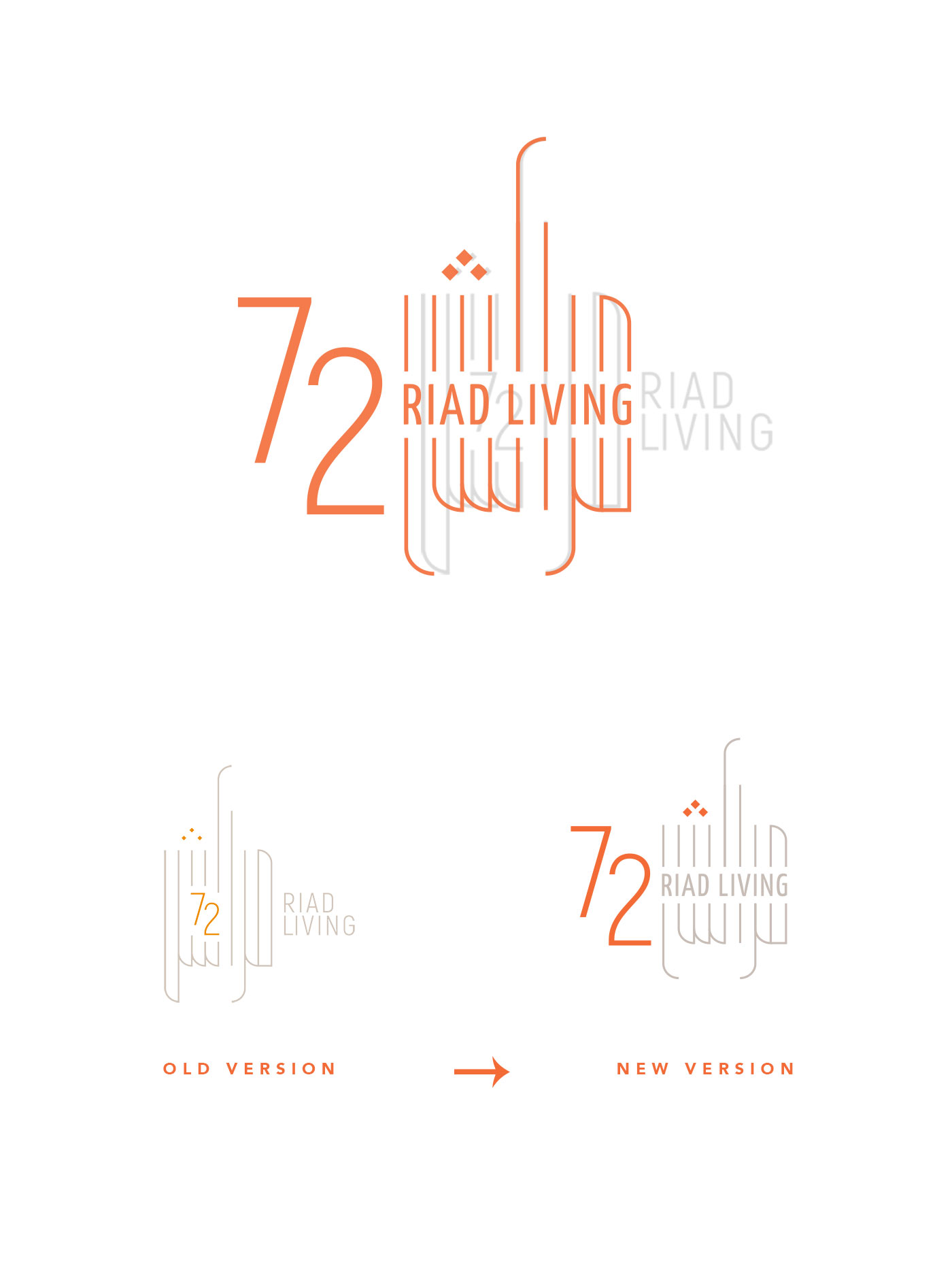 LOGOTIPO RIAD LIVING 72 Marrakech grafico milano 00