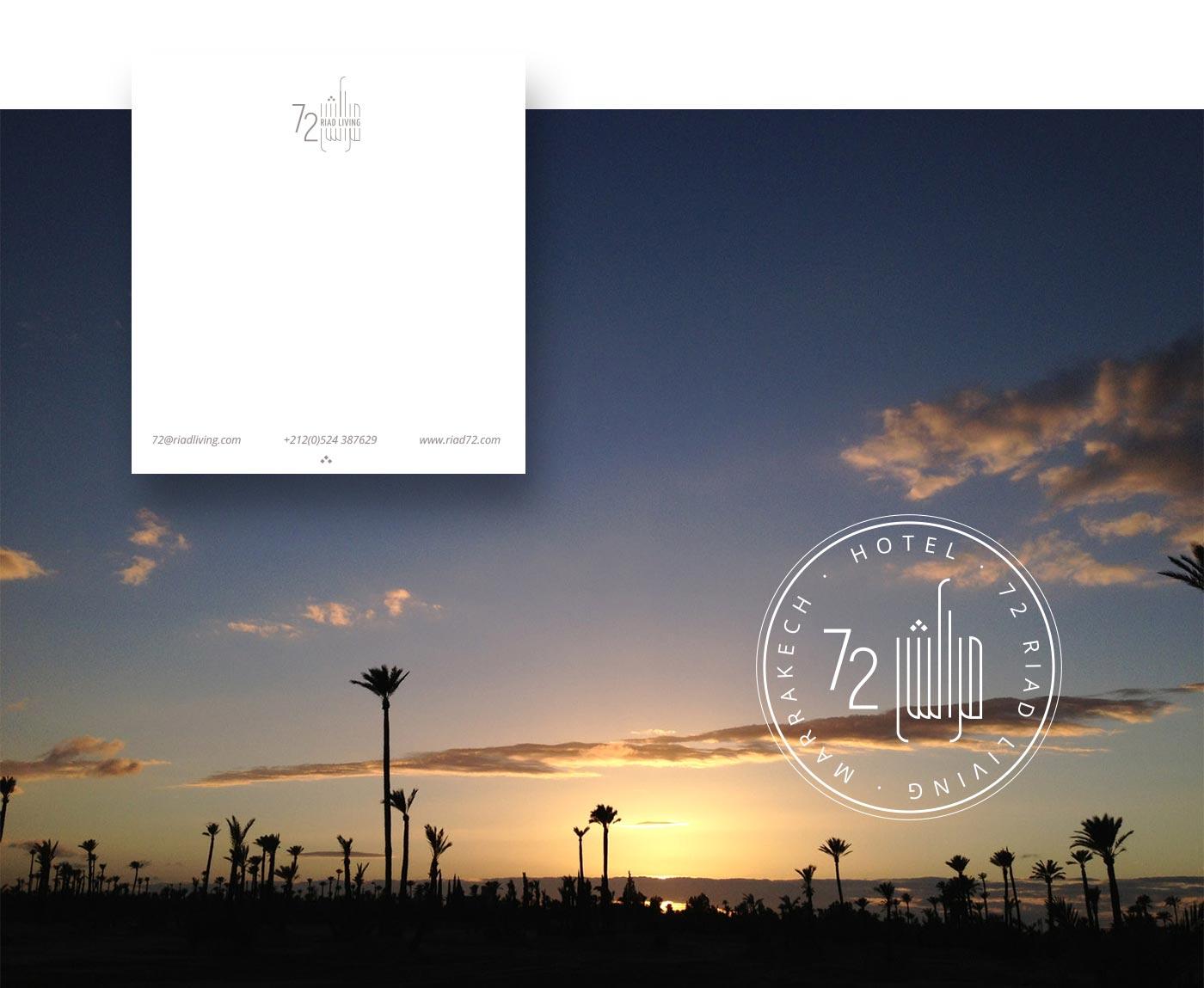 LOGOTIPO RIAD LIVING 72 Marrakech grafico milano 05