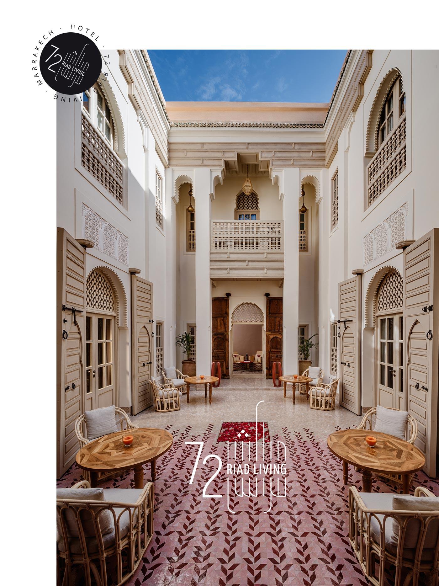 LOGOTIPO RIAD LIVING 72 Marrakech grafico milano 06