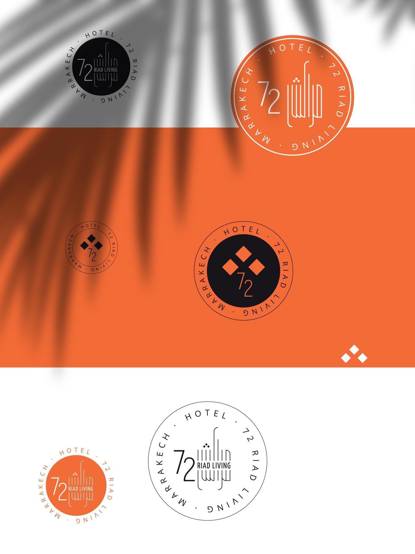 timbri stikers RIAD LIVING 72 Marrakech grafico milano 00