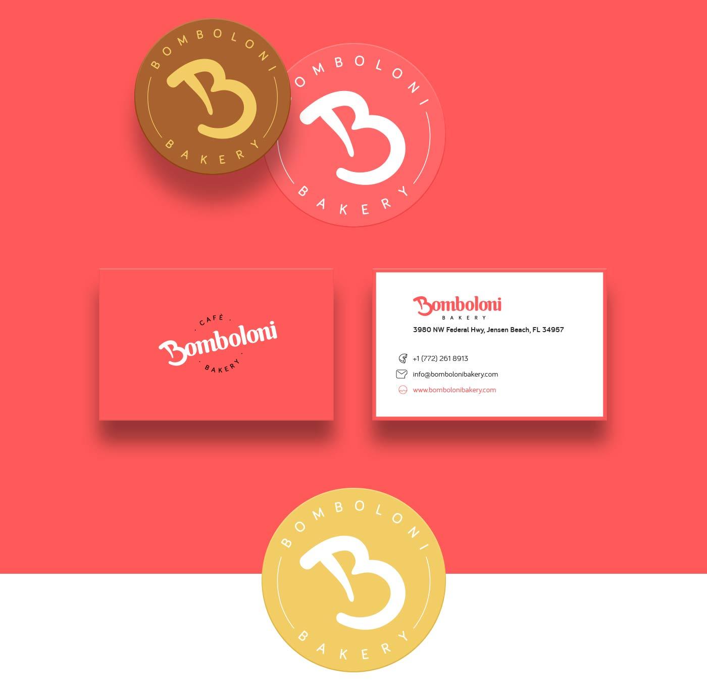 bomboloni business card grafico milano