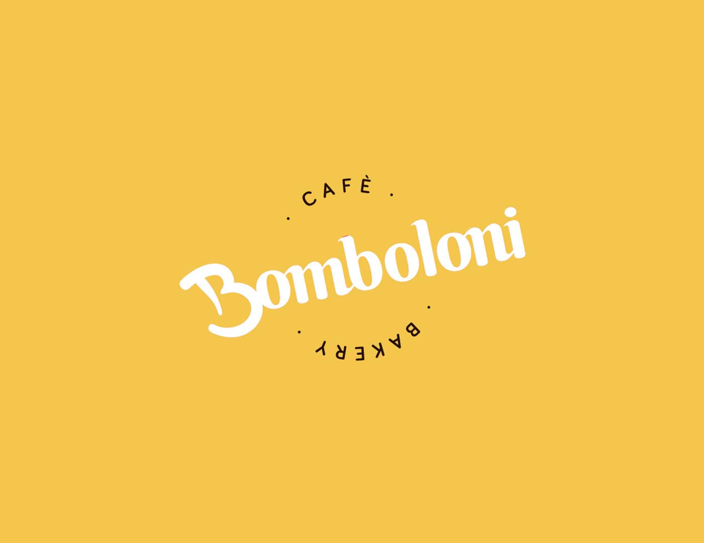 bomboloni logo yellow grafico milano