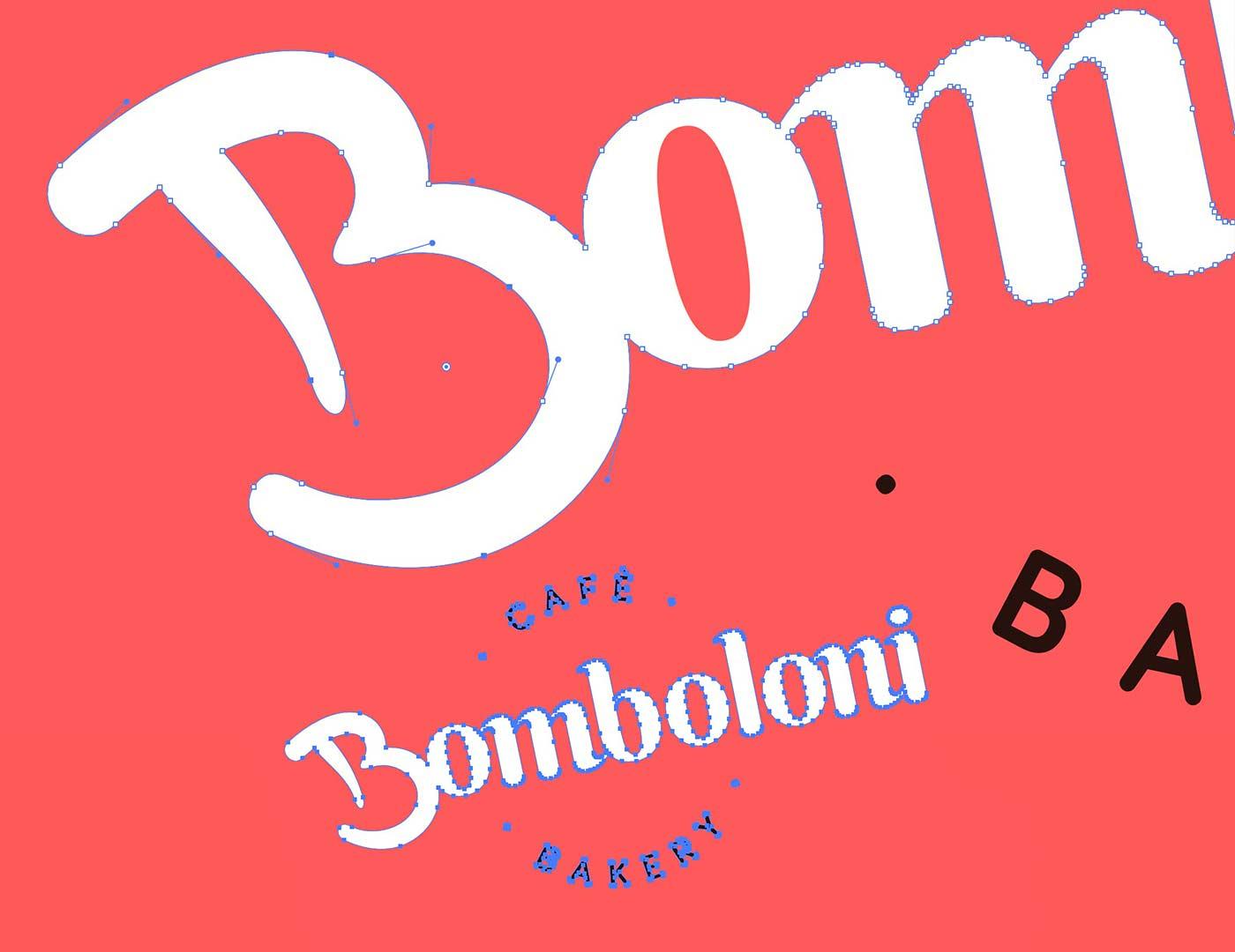 bomboloni logotype vector grafico milano