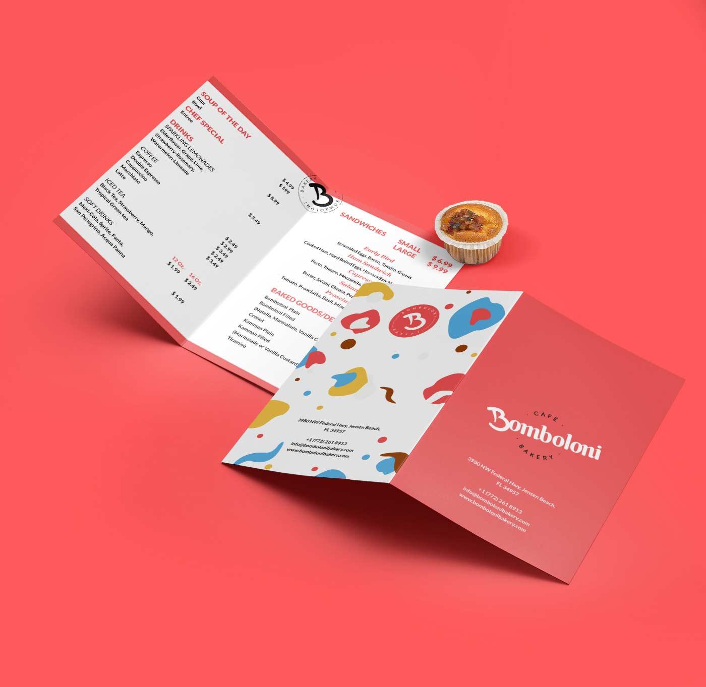 bomboloni menu a4 grafico milano