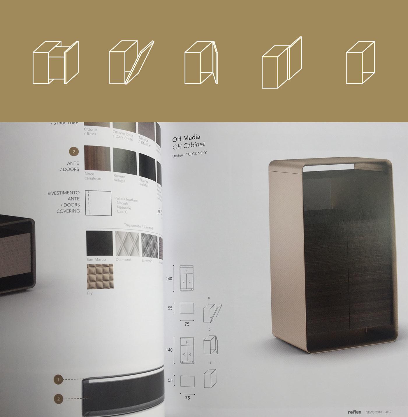 SHELF icon grafico milano reflex material