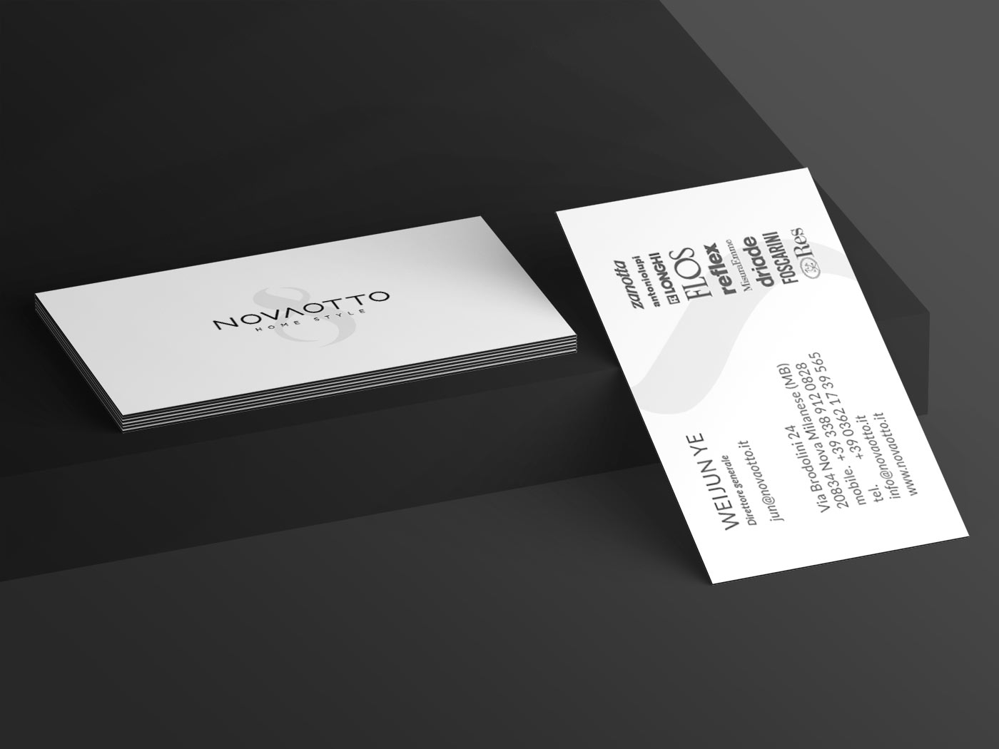 novaotto business card grafico milano