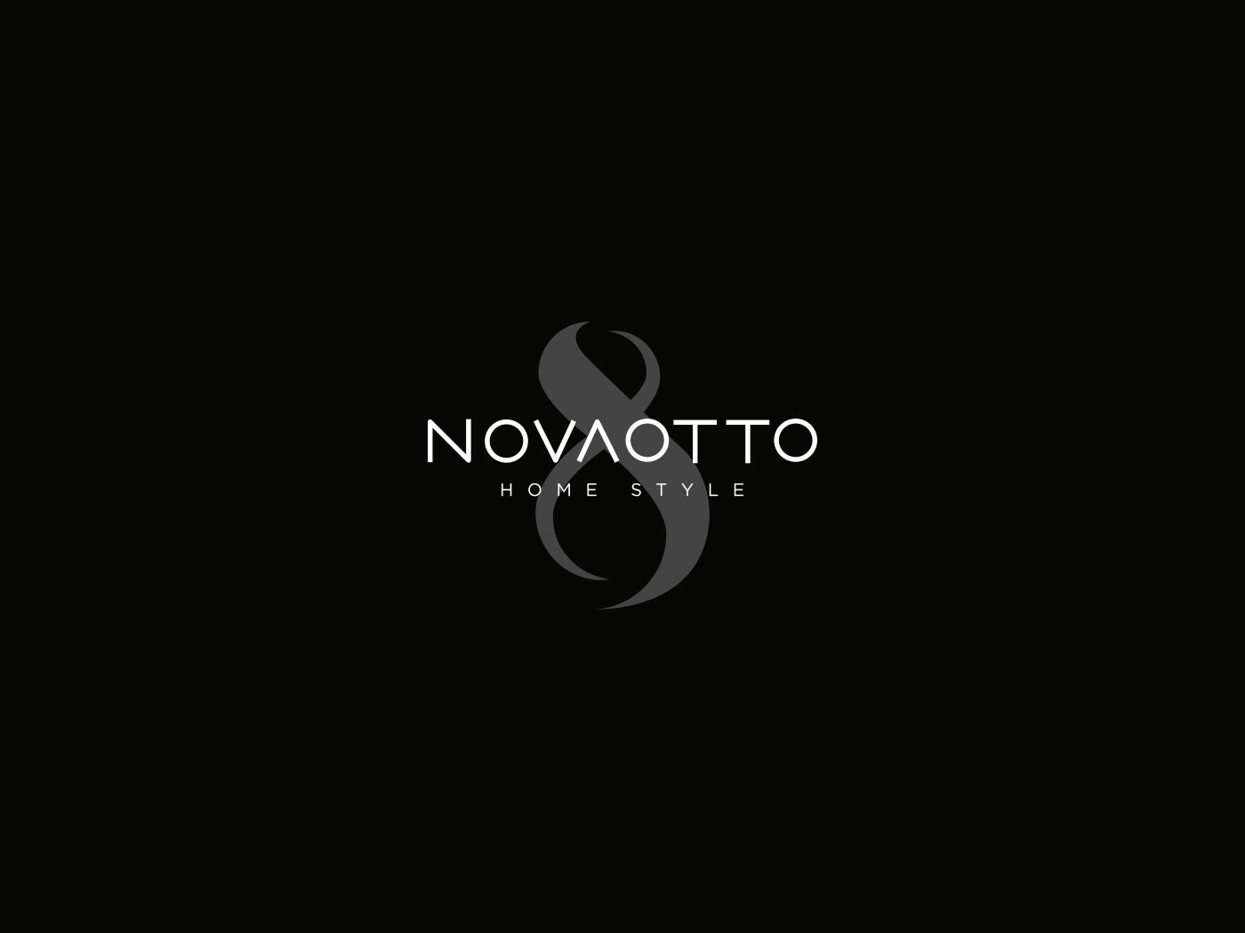 novaotto logotipo black grafico milano