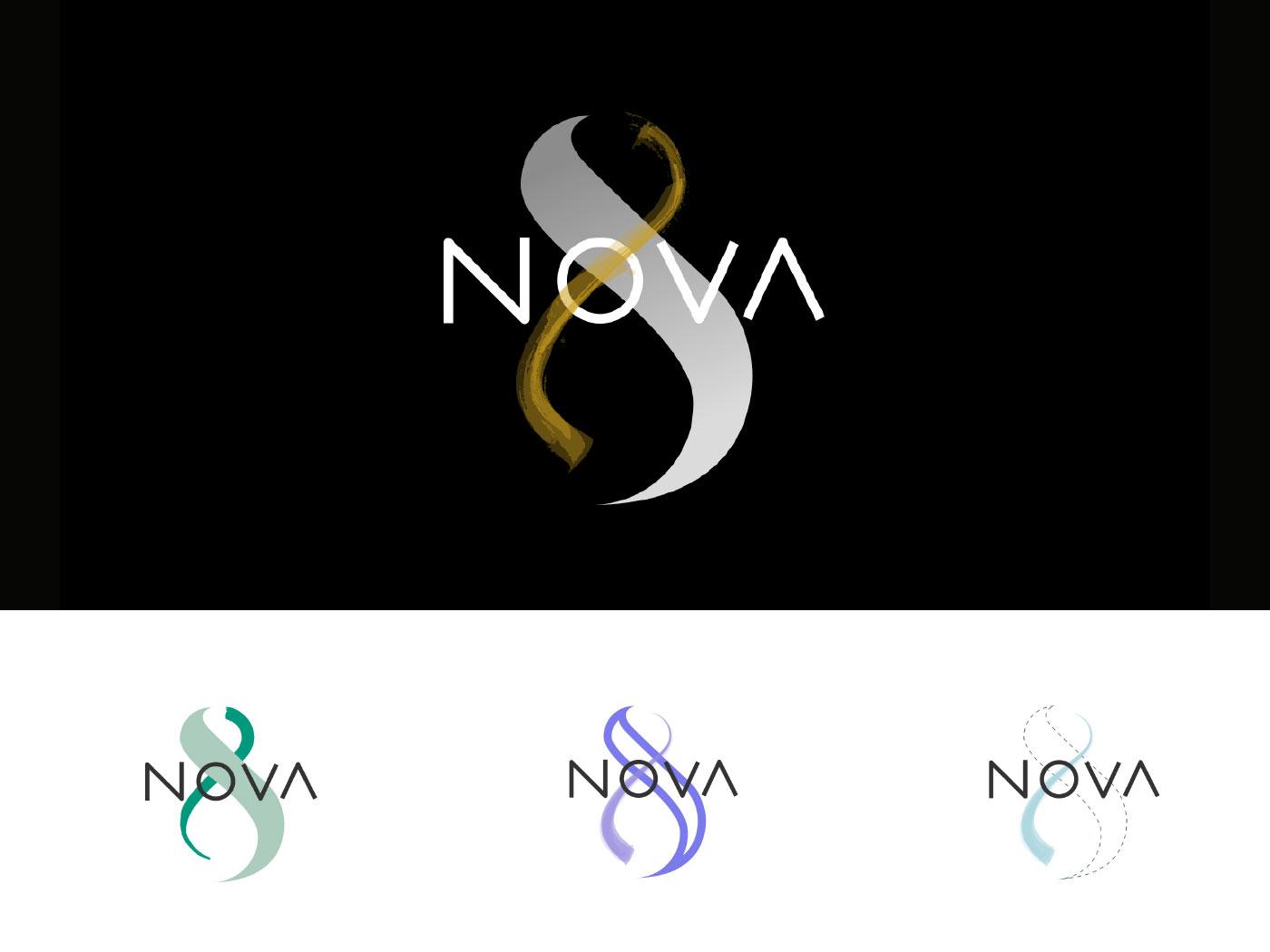 novaotto logotype grafico milano