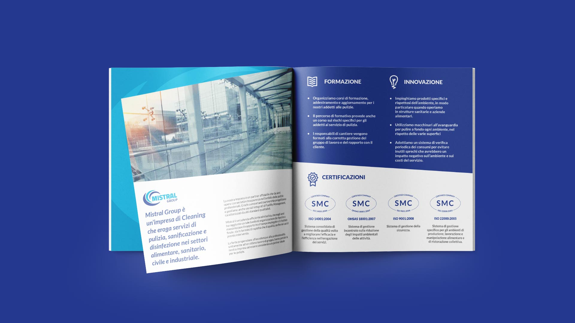 A1 mistral brochure company grafico milano
