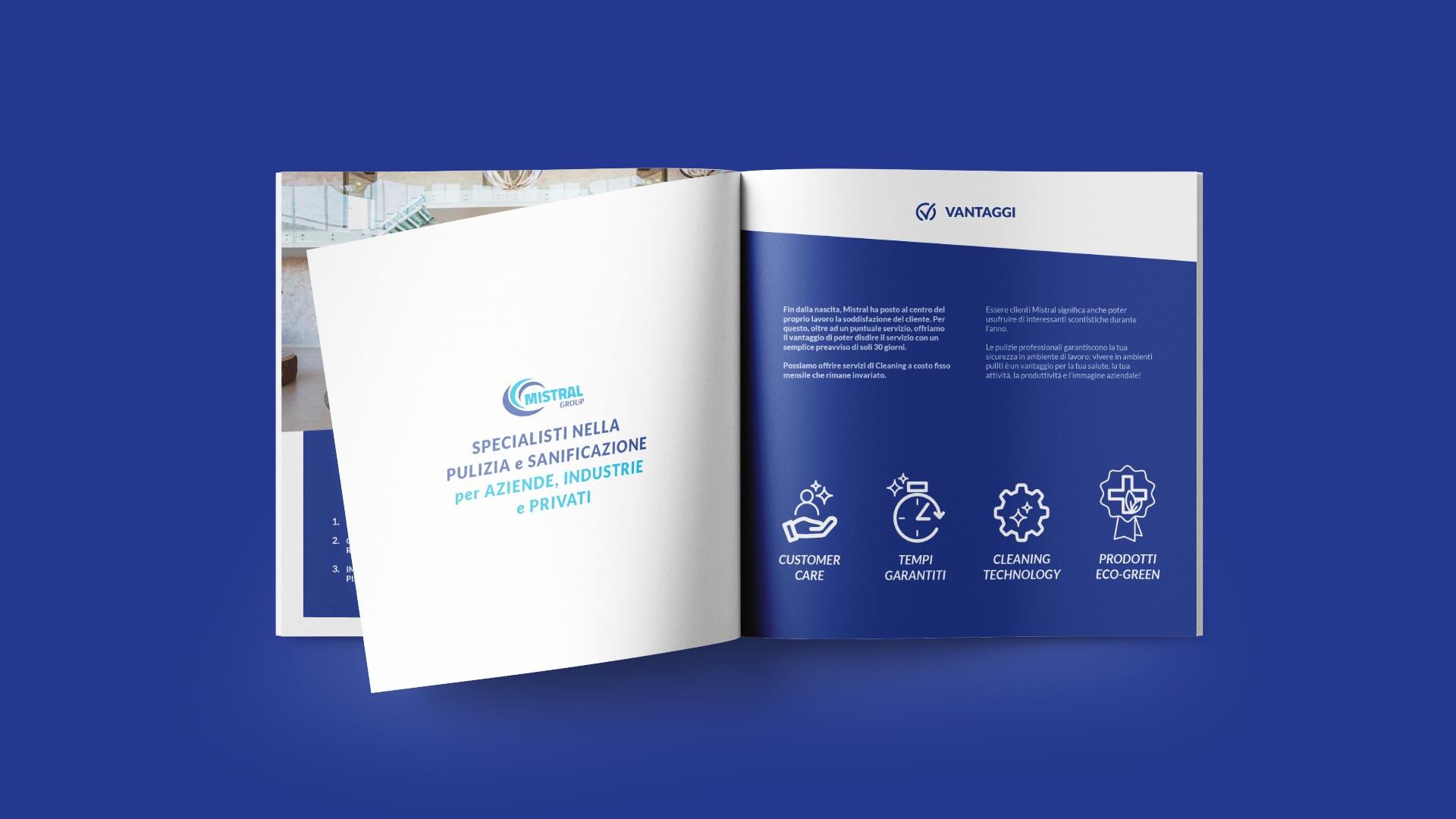 A2 mistral brochure company grafico milano