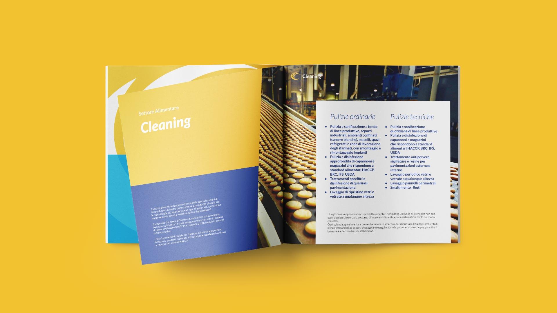 B1 mistral brochure company grafico milano