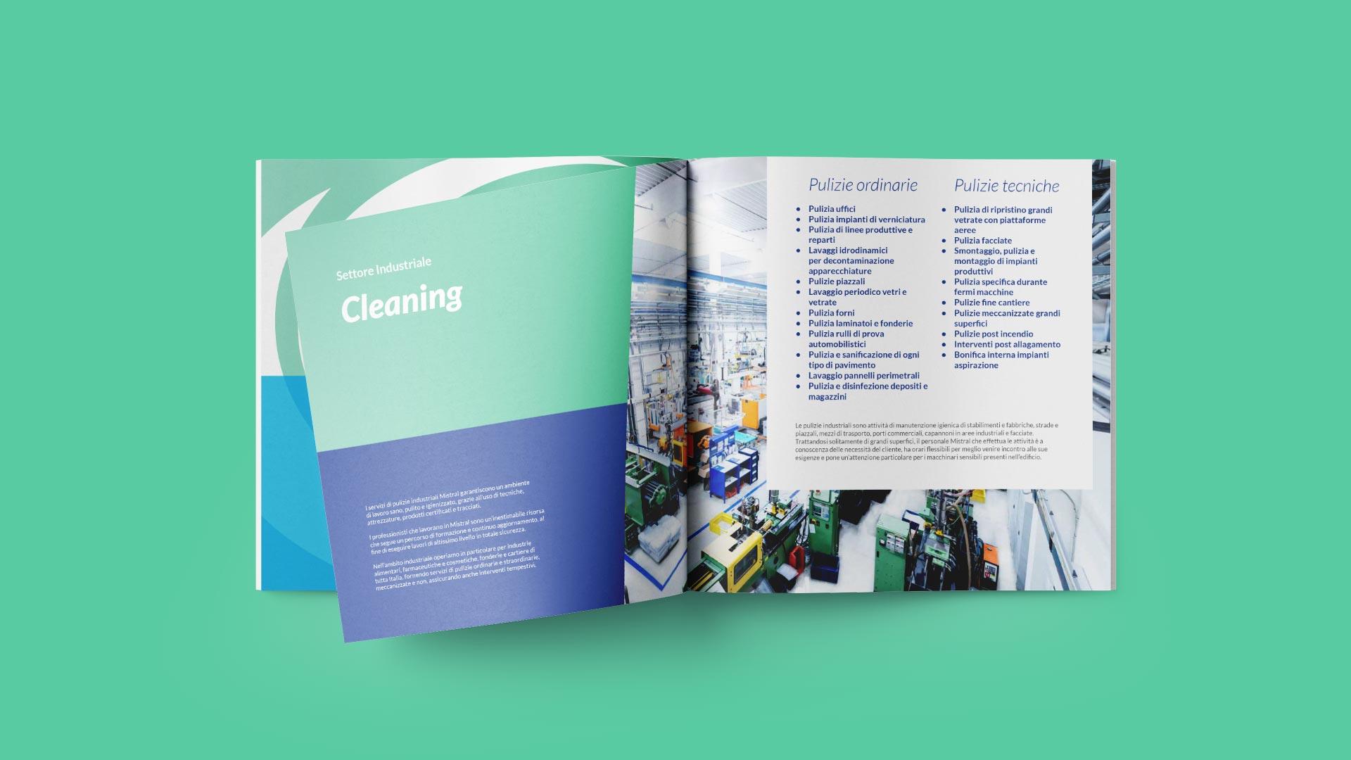 D1 mistral brochure industriale grafico milano