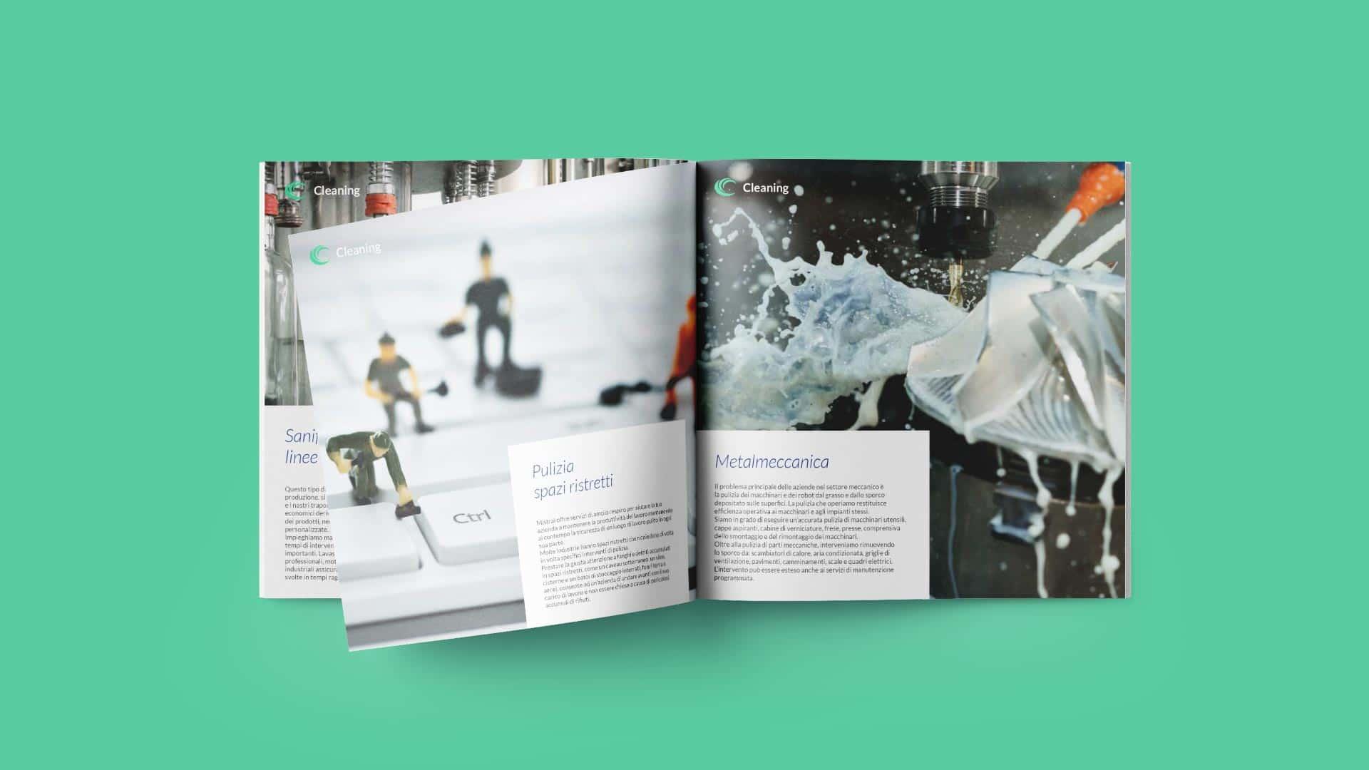 D2 mistral brochure industriale grafico milano