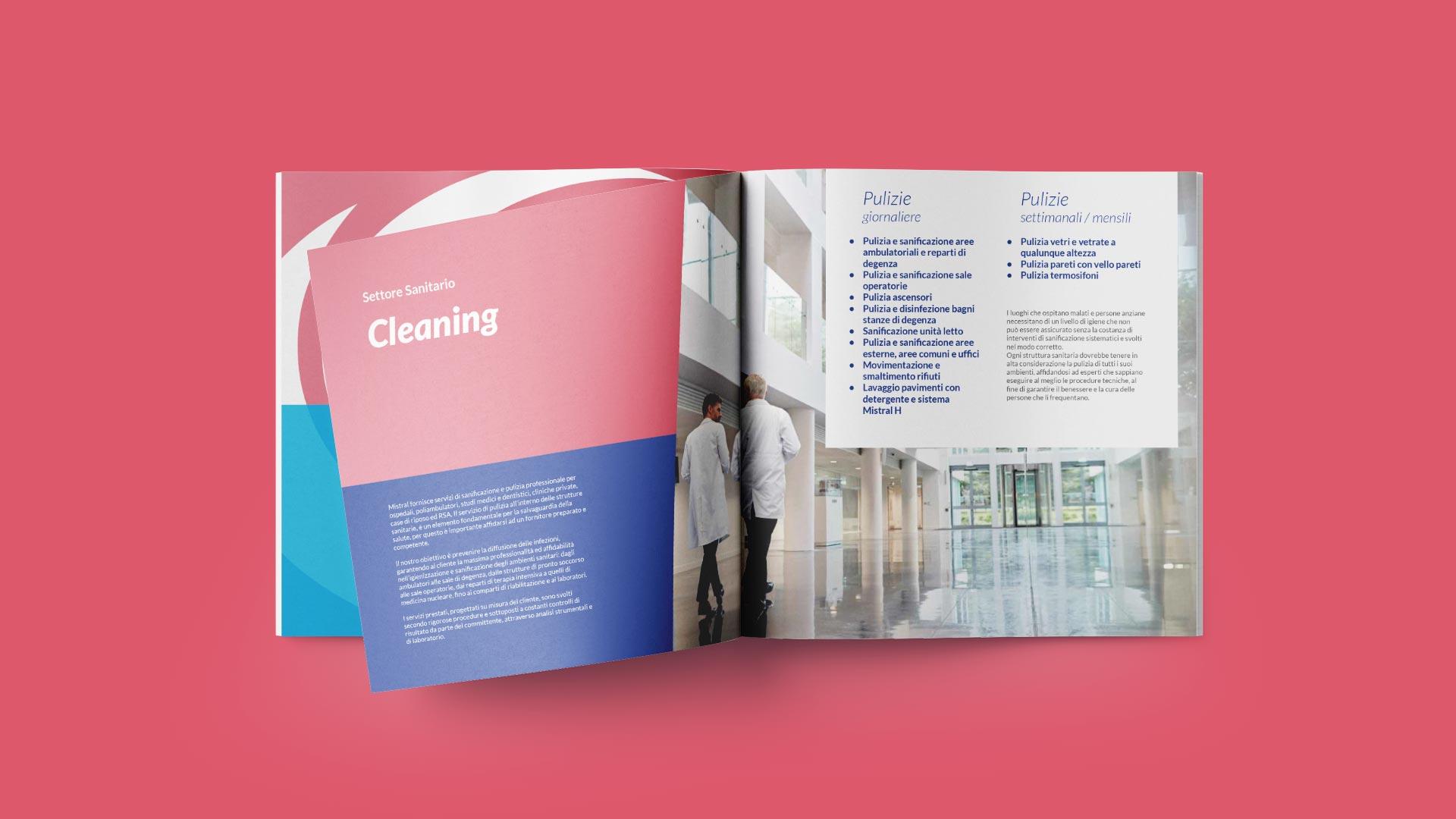 E1 mistral brochure sanitario grafico milano