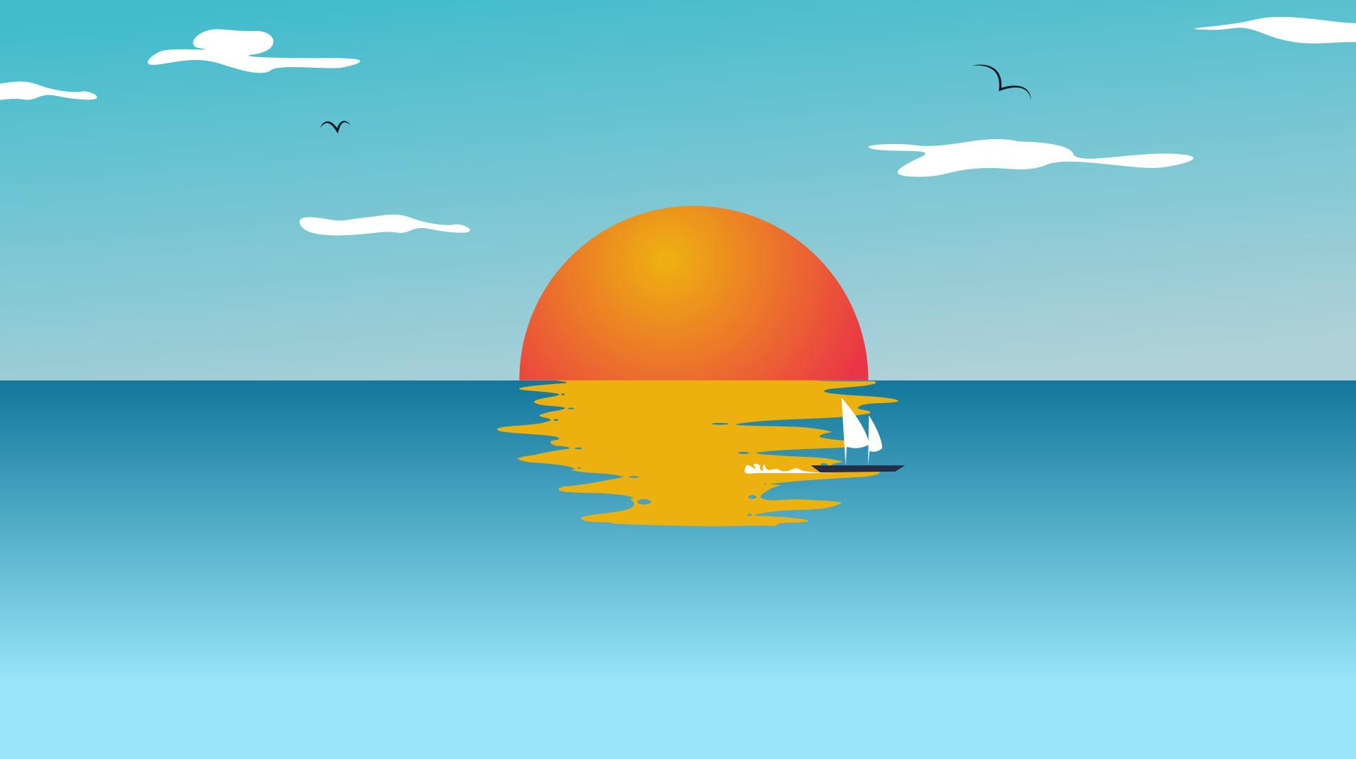 illustrazione summer sale milestone grafico milano sea