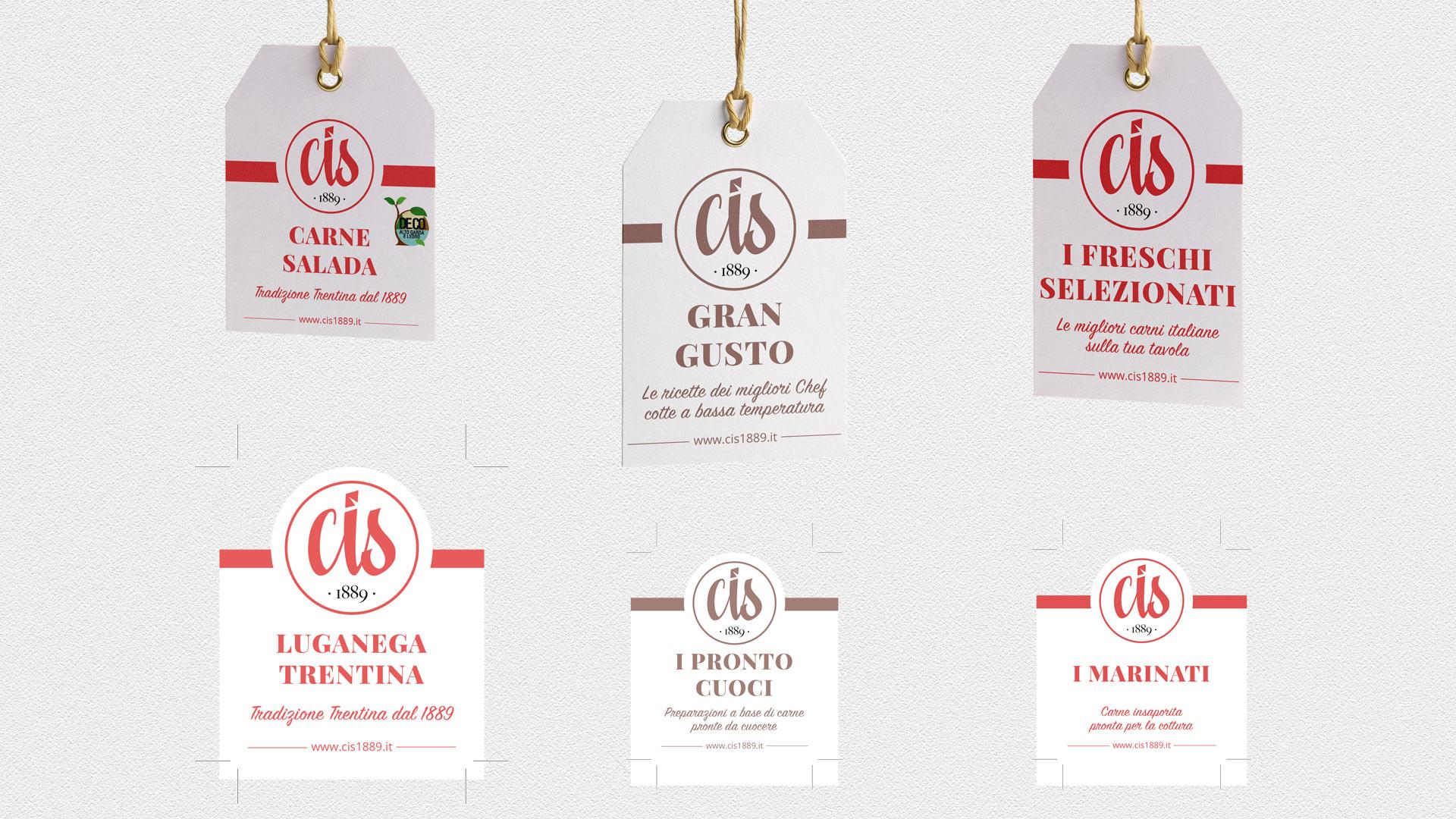 etichette label CIS packaging grafico milano