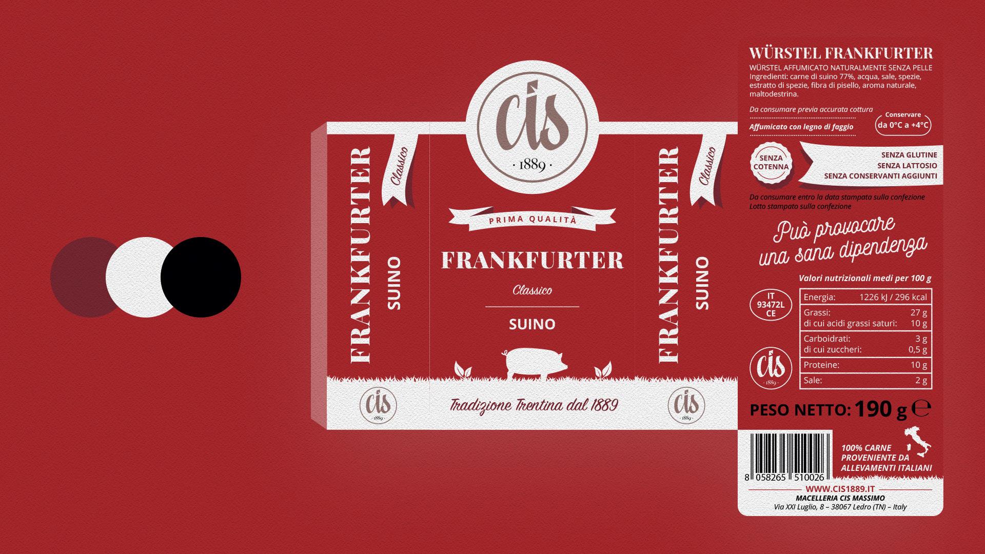 frankfurter suino CIS packaging grafico milano