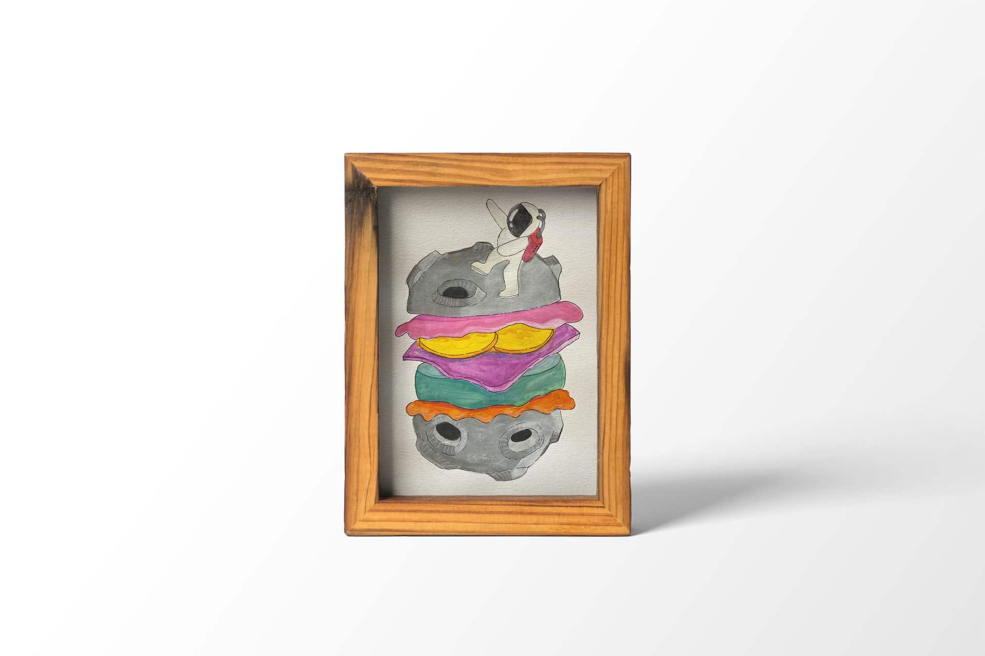 moon burger grafico milano frame