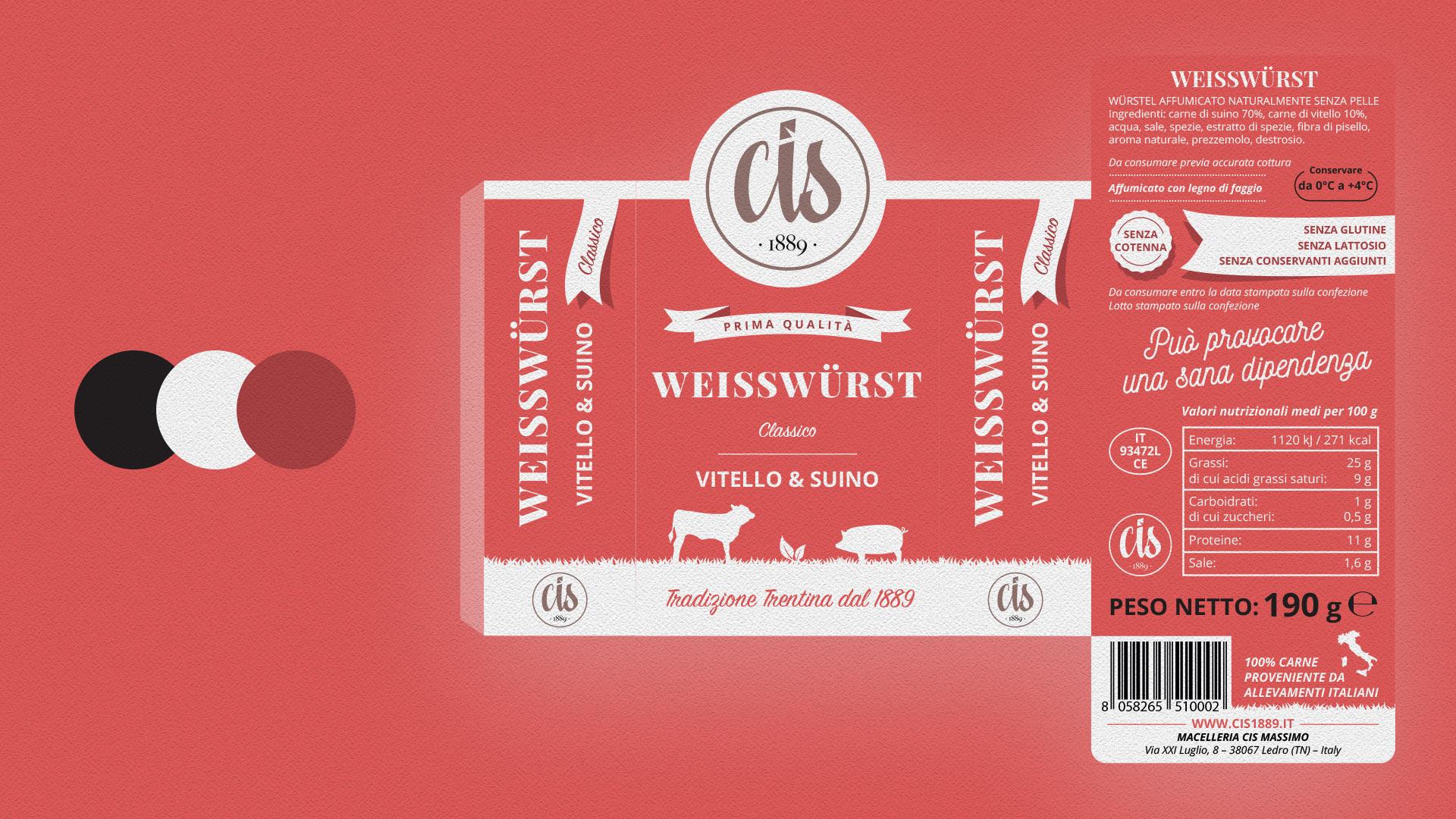 wisswurst CIS packaging grafico milano