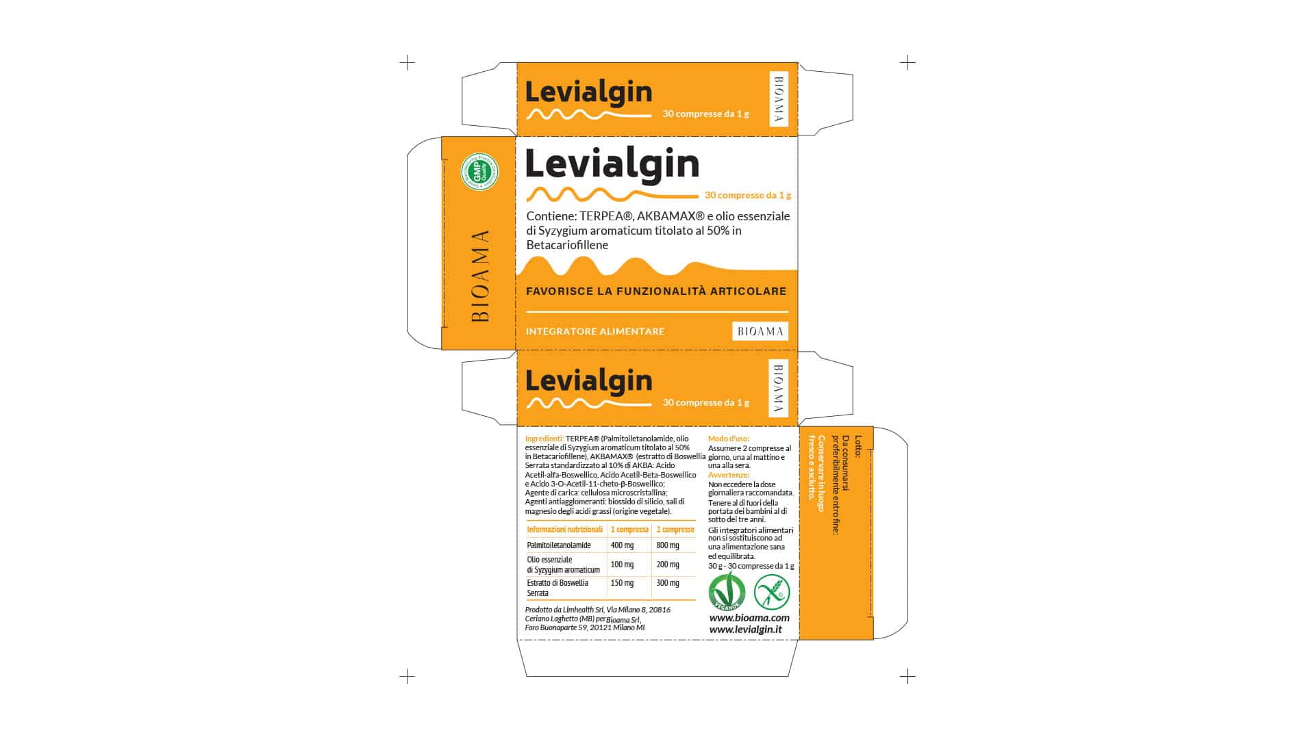 packaging levialgin grafico milano