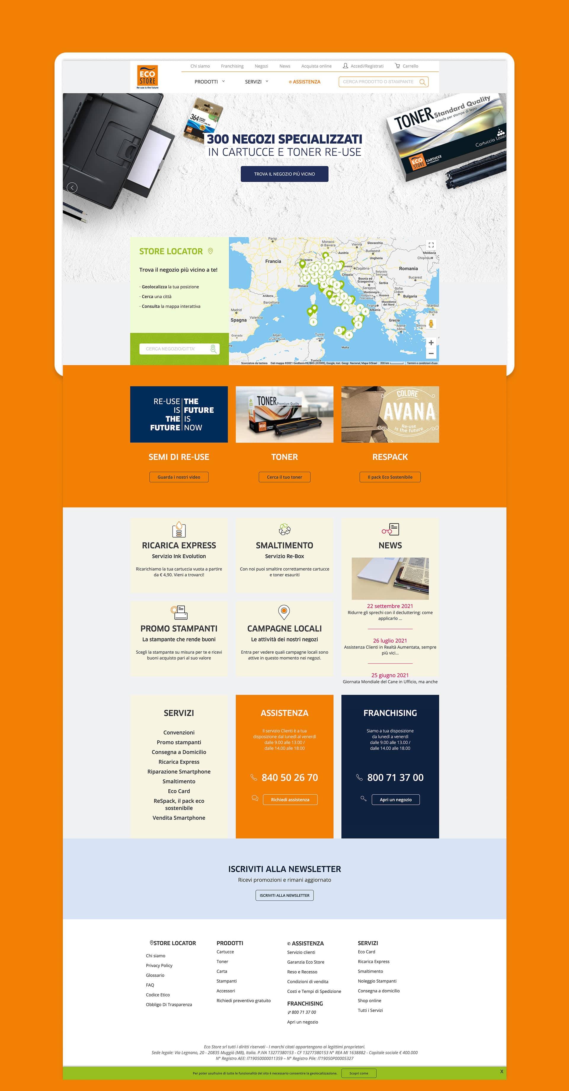 ecostore webdesig homepage grafico milano