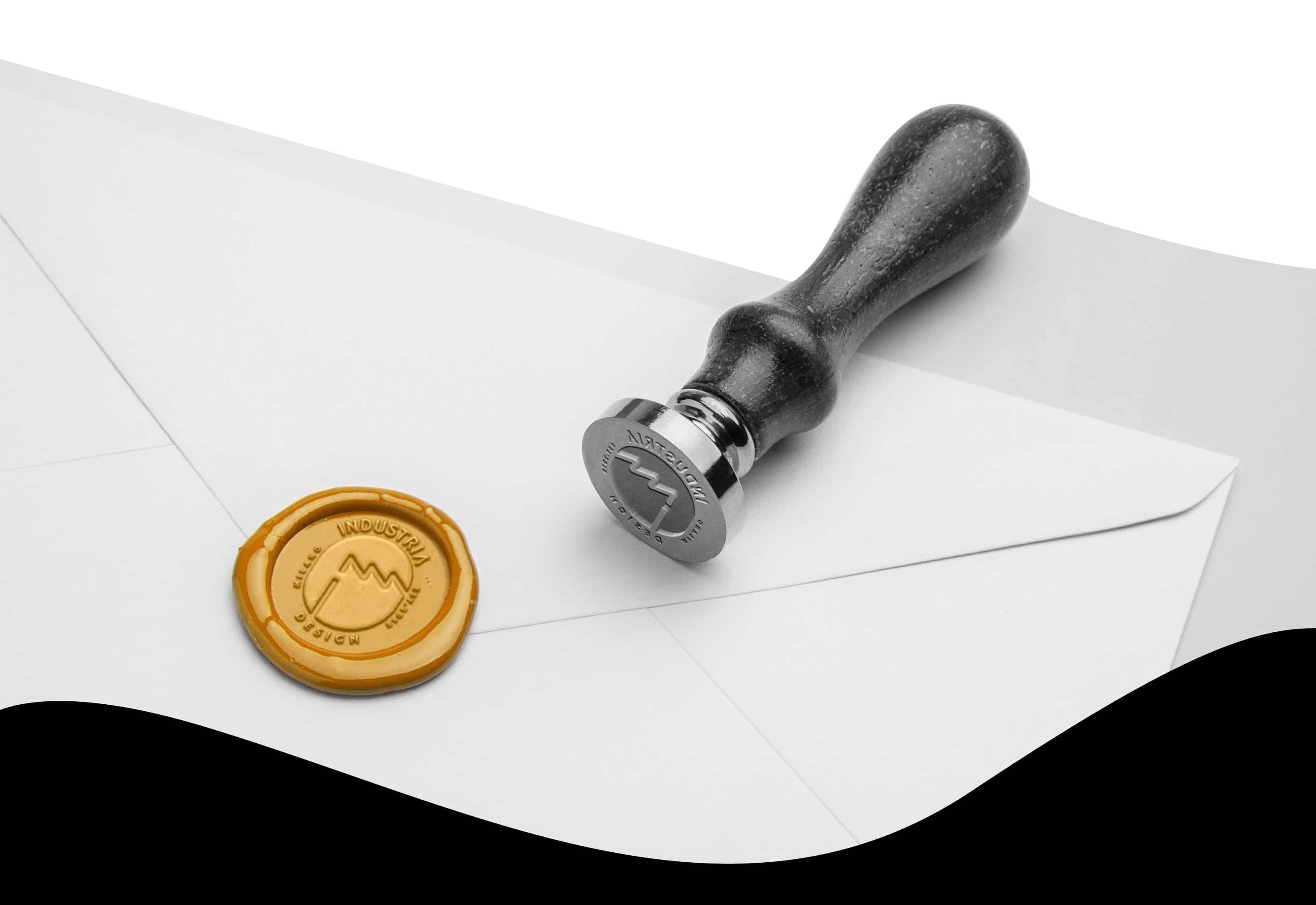 industria design logo stamp