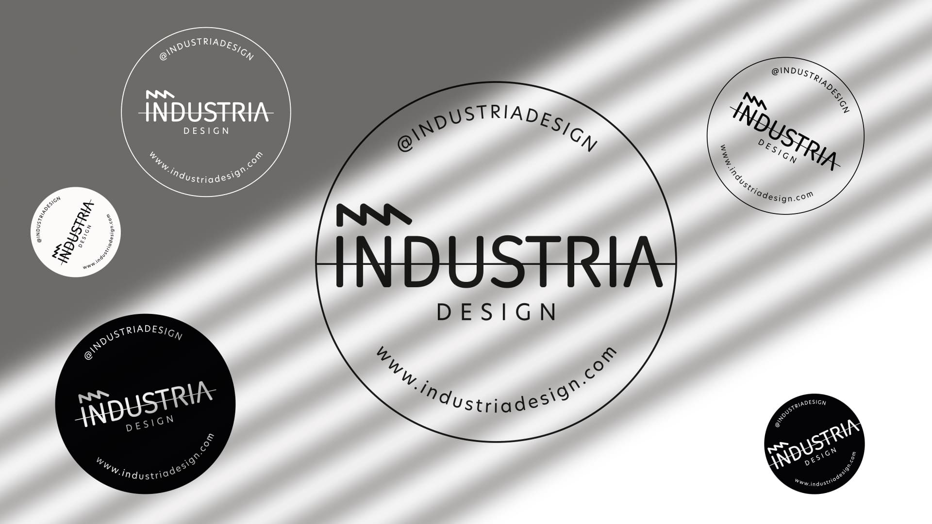 industria design logo stikers